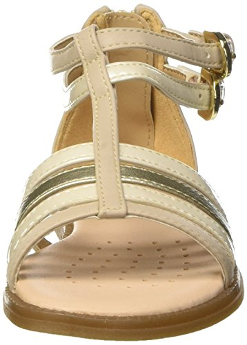 Geox Karly D, Sandales Bout Ouvert Fille Beige (Beigec5000)