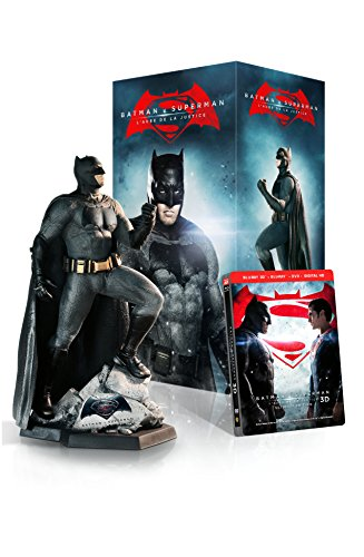 Batman v Superman: L'Aube de la Justice (version longue) - Edition ultime collector (incluse la Statue de Batman) Bluray 3D + Bluray 2D + DVD [Edition limitée] [Blu-ray]