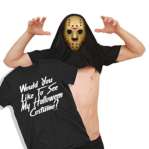 Herren Would You Like to See My Jason MASK Friday 13th Halloween Umdrehen T-Shirt