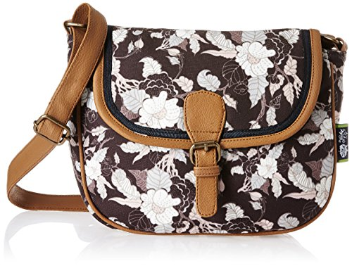 Kanvas Katha Selena Digital Women's Sling Bag (Brown) (KKSELDP005)