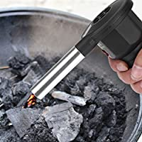 GOTOTOP Portable Battery Powered Bbq Fan Air Blower For Outdoor Camping Picnic Charcoal Grill Barbecue 16.5 x 8 x 13.8cm / 6.50 x 3.15 x 5.43in Black