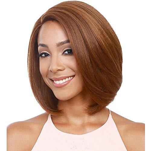 Damen Perücke neue Perücke kurze glatte Haare Damen kurze Haare hellbraune Perücke