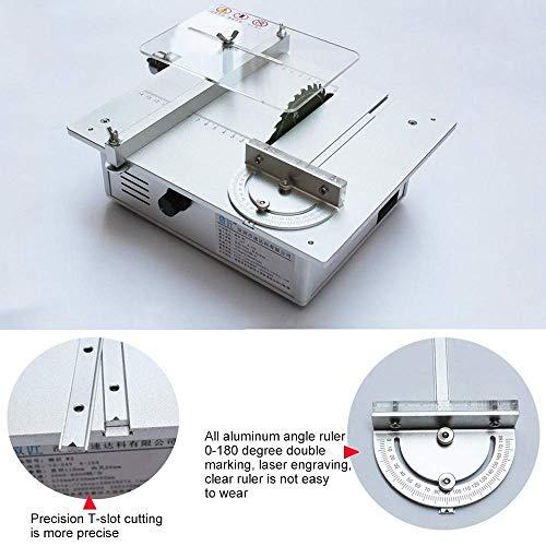 110-240 V Tischkreissäge/Holzbearbeitung DIY Modell Schneidemaschine Elektrische Polierer Grinder/DIY Modellschneidsäge(Silber)(luxury package)