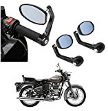 #9: AutoSun Bar End Mirror Rear View Mirror Oval For Royal Enfield Bullet 500