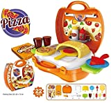 Bighub Pizza Oven Suitcase playset Toys for Kids . 22 Pieces