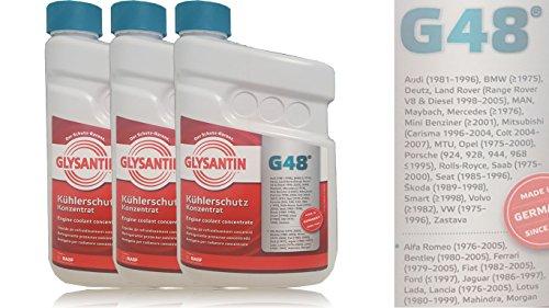 BASF GLYSANTIN Frostschutz Kühlerfrostschutz Konzentrat G48 BLAU/GRÜN 4,5 L