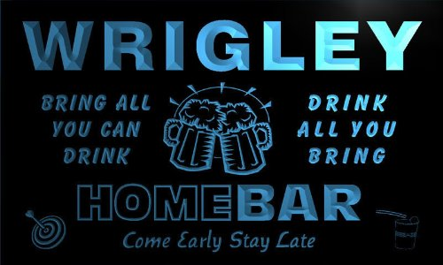 q49100-b-wrigley-family-name-home-bar-beer-mug-cheers-neon-light-sign