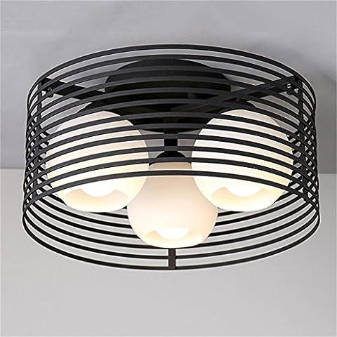 LXSEHN art minimaliste moderne de la personnalité créative restaurants Fer fixtures Nordic chambre à coucher entrée du salon au plafond pour enfants Lampe d'éclairage de plafonnier Lanternes