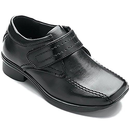 Kinder Schuhe für Jungen für Hochzeiten, Feste, Klettverschluss, rutschfest, Kunstleder Black / Lances