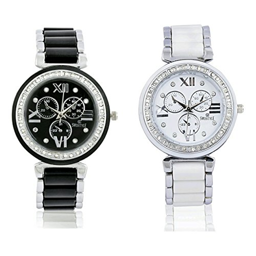 Swisstyle SS-703BB-703WB Analog watch combo for women