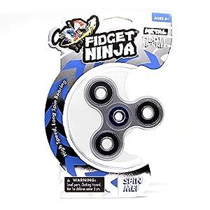 Yoyofactory YO-370 Ninja Spinner de Metal para Fidget Spinner, Color Plateado