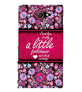 First Love Is Lot Of Curiosity 3D Hard Polycarbonate Designer Back Case Cover for Sony Xperia M2 Dual D2302 :: Sony Xperia M2