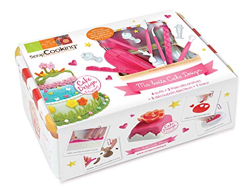 ScrapCooking 3983 Boîte Nécessaire Cake Design, Outils en Plastique ABS, Multicolore, 19,5 x 13 x 8 cm