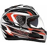 Vega Insight Full Face Helmet with Nomad Graphic (Flat Red, Medium) by Vega Helmets