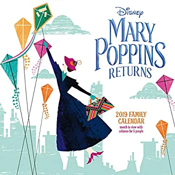 Mary Poppins Classic Family Organiser Official 2019 Calendar - Square Wall Calendar Format