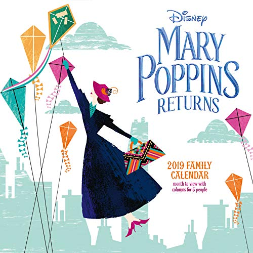 Mary Poppins Classic Family Organiser Official 2019 Calendar - Square Wall Calendar Format par Disney