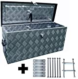Truckbox D080 + MON2014 Werkzeugkasten, Deichselbox, Transportbox, Alubox, Alukoffer