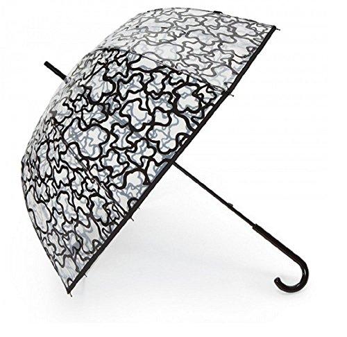 Paraguas Tous modelo Kaos negro- transparente