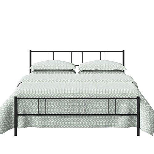 The Original Bedstead Company Mortlake King Size Metal Bed (Iron - Satin Black)