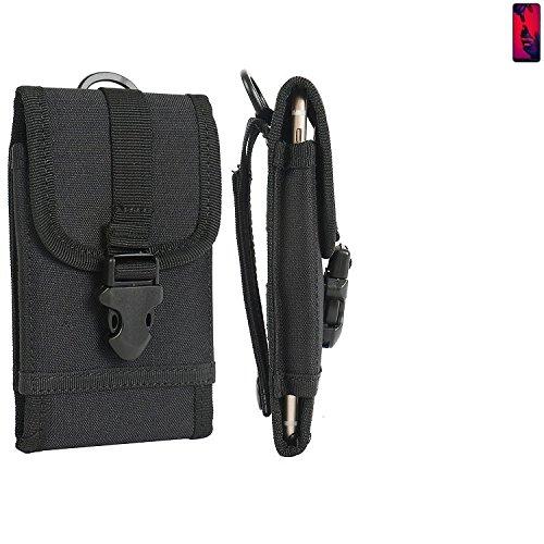 K-S-Trade Handyhülle für Huawei P20 Pro Dual-SIM Gürteltasche Handytasche Gürtel Tasche Schutzhülle Robuste Handy Schutz Hülle Tasche Outdoor schwarz