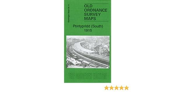 SOUTH OLD ORDNANCE SURVEY  DETAILED MAP PONTYPRIDD GLAMORGAN  1915 S28.14