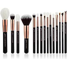 Jessup marca belleza 15Fundación de maquillaje Kit de herramienta facial de relieve de utensilios para Cable de pelo Cepillos Herramienta Kit & Set Negro/Oro rosa T162