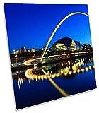 Newcastle Gateshead Millennium Bridge auf Leinwand, quadratisch Wand Kunstdruck Bild, 90cm wide x 90cm high