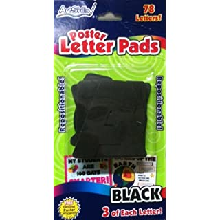ArtSkills Poster Letter Pads - Black - 3 of Each Letter