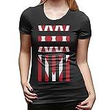 One OK Rock Logo T Shirts Tees Short Sleeve For Damen X-Large