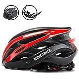KING BIKE Fahrradhelm Helm Bike Fahrrad Radhelm FüR Herren Damen Helmet Auf Die Helme Sportartikel Fahrradhelme GmbH RennräDer Mountain Schale Mountainbike MTB (Schwarz Rot, XL(59-63CM))