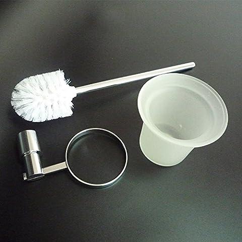sdkky Qualität Spray Glas WC Badezimmer Tasse Bürste Reinigungsbürste Rack Kupfer versilbert