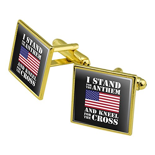 Graphics and More 'Tisch-Flagge, USA, Amerikanische Fahne Patriot-Manschettenknopf, goldfarben (Amerikanische Tische)