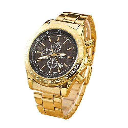 Yogogo Herren Quartz Analog Armbanduhr , 1 Cent Artikel Uhr   Legierungsband   Dekoration   Geschenk   Edelstahlgehäuse   Quarzwerk   1.9cm Bandbreite   24cm Bandlänge (Schwarz)