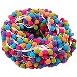 yalulu 5m multicolor pom pom de encaje borla pompón Trim bolas flecos cinta tejido de prendas de vestir Cable DIY Craft Costura Suministros 5 Yards*1.8cm blanco