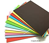 #10: Merakii premium coloured paper for art and craft. A4 size pack of 24, 250 gsm thick cardstock craft papers sheets