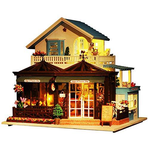TAEONY Les Enfants de Belle Maison de poupée Alpine en Bois de Grands Enfants avec des Meubles et...