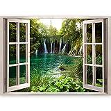 murando - 3D WANDILLUSION 140x100 cm Wandbild - Fototapete - Poster XXL - Fensterblick - Vlies Leinwand - Panorama Bilder - Dekoration - Natur Landscape