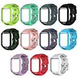 #9: Silicone Watchband Frame Quick Release Straps Bands Replacement for TomTom Runner 2/Spark/Spark 3