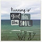 Stupell Home Décor Running Is Good For The Soul Wall Plaque Art, 12 X 0.5 X 12, Proudly Made In USA