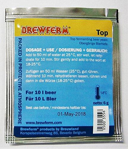BIERHEFE BREWFERM TOP - Bier Hefe für Ale, IPA,Obergärig | Trockenhefe | Obergärige Hefe | Brewferm| Homebrew | Brewing Yeast | Hefe Bierbrauen