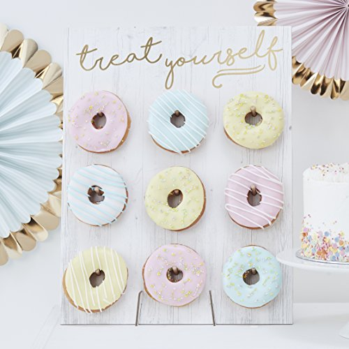 ginger ray Donut Wall – Cake Alternativa Donut Pared Atril Pick & Mix Boda...