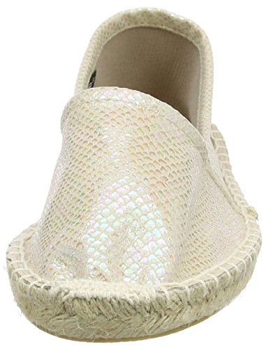 Pieces Haisha Espadrillos Irridescent Snake Wht, Espadrilles femme Blanc - Weiß (Bright White)