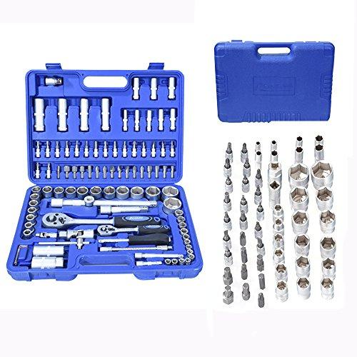 PC 1/5,1cm 1/10,2cm Socket Set Ratsche Driver Kit Schraubendreher Bit Werkzeug Torx mit Fall, metall, 94A - Standard-torx Socket