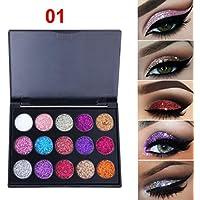 Paleta de sombra de ojos con purpurina y brillo, maquillaje cosmético de Taottao