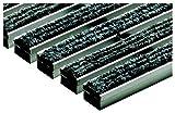 ACO Vario Schuhabstreifer-Matte outdoor 75x50 cm 1x Fußmatte aus hellgrauen Rauhaarrips-Streifen für außen