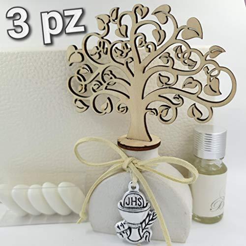 3pz bomboniere utili profumatore/diffusore albero della vita e ciondolo confetti crispo (profumatori calice)