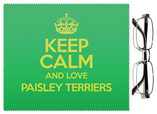 Green Keep Calm and Love Paisley Terriers 1578colore lenti