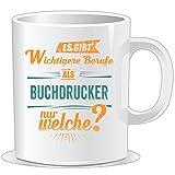 getshirts - RAHMENLOS® Geschenke - Tasse - Wichtigere Berufe als - Buchdrucker - petrol orange - uni uni