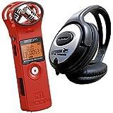 Zoom H1RD Red Edition V2.0Enregistreur stéréo MP3WAV Rouge keepdrum Casque stéréo
