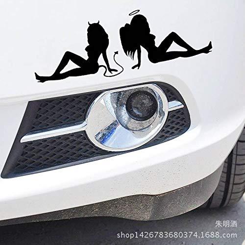 Autoaufkleber Aufkleber Fensteraufkleber Reflektierende Engel und Teufel Schönheit -